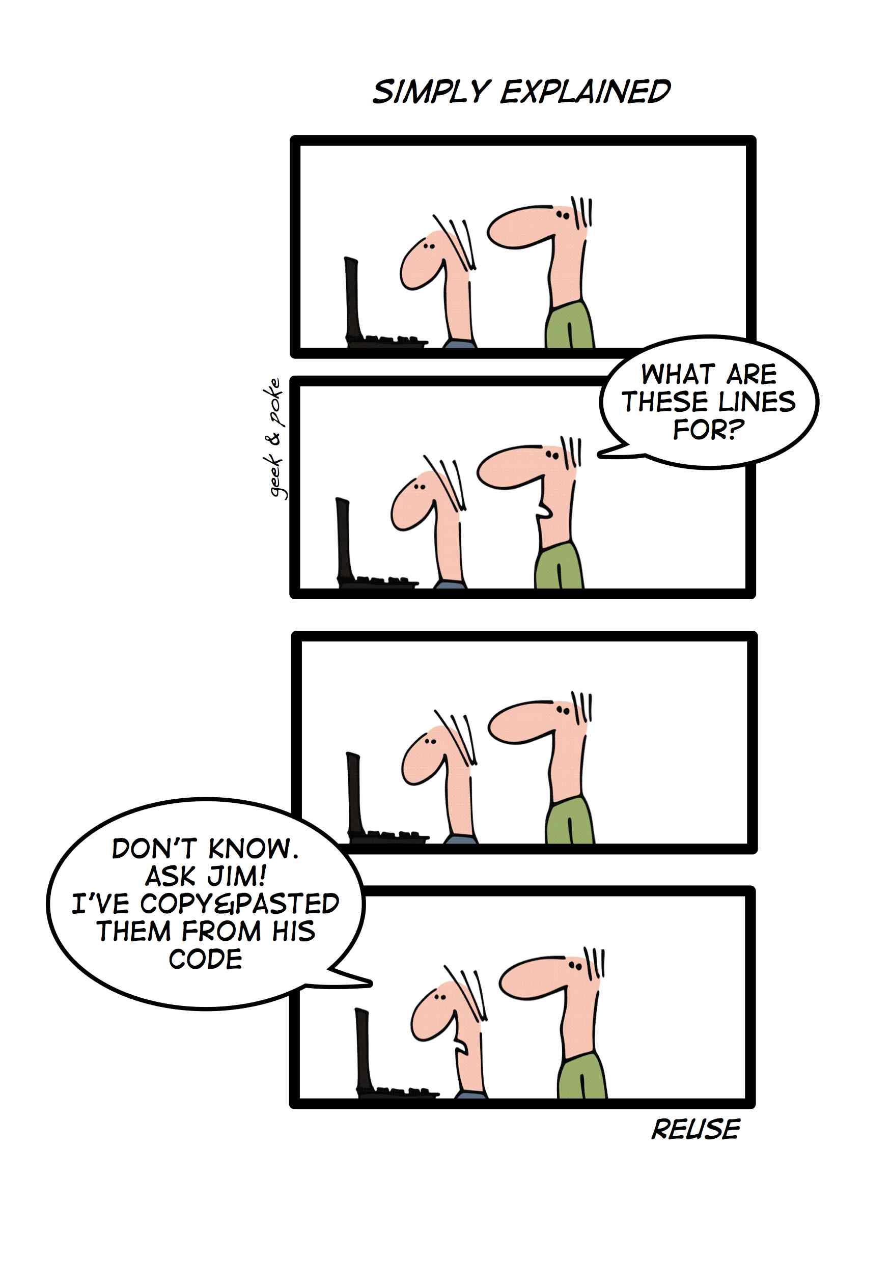 Simply Explained (Geek & Poke)