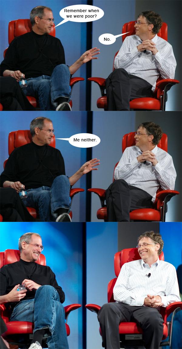 Gates versus Jobs